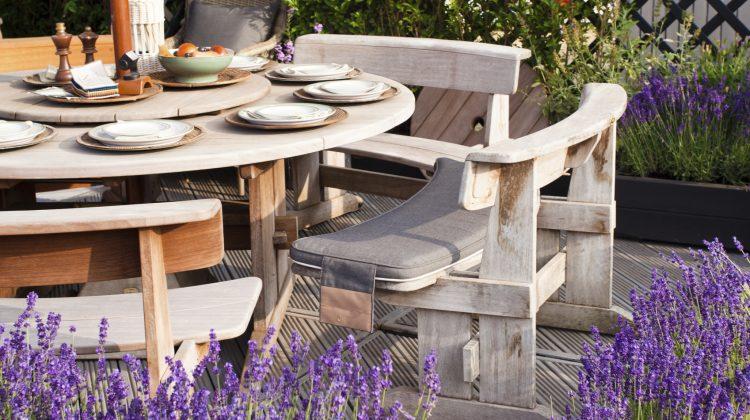 Lavender Outdoor Kitchen