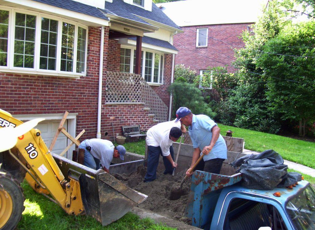 in progress front yard Vee's Botanicals