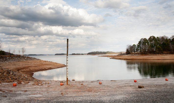 Lake Lanier during drought