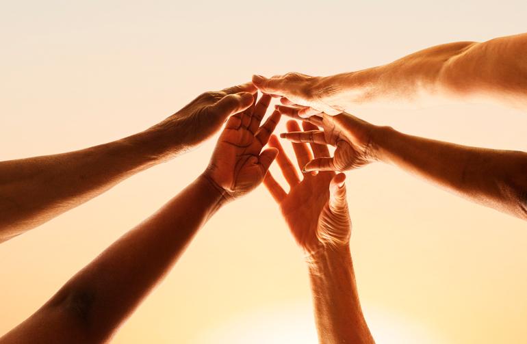 hands teamwork